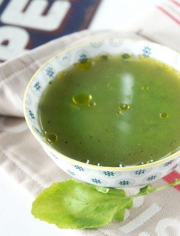 soupe velouté fanes de radis