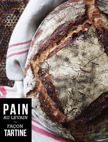 """pain au levain façon """"tartine bread"""" à la farine de seigle"""