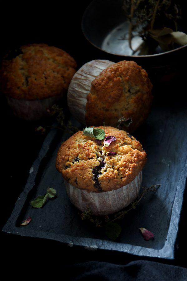 recette de muffins aux myrtilles américains