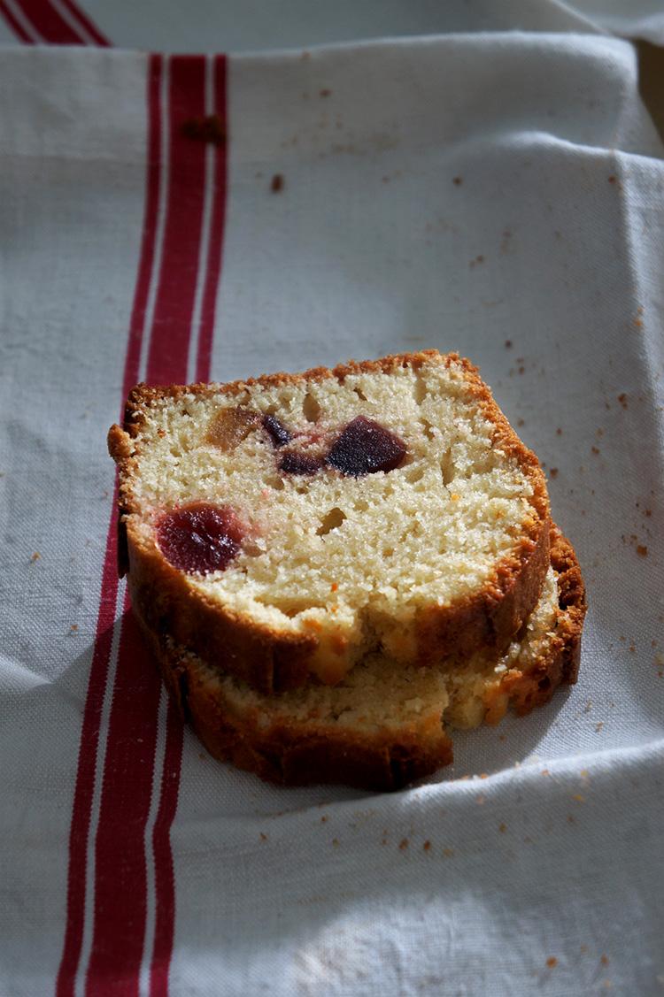 cake au levain naturel et fruits confits